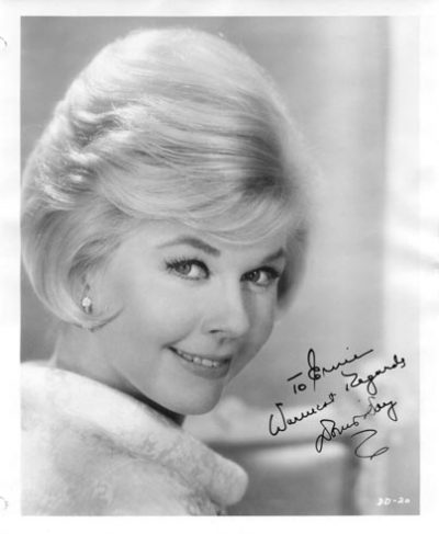 Signed photo of Doris Day given to Ernie Bringas