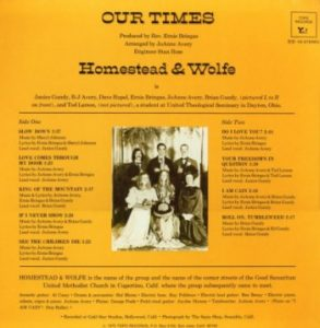 Homestead & Wolfe album entitled Our Times