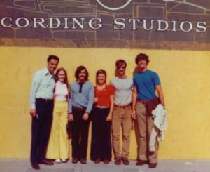 image of the band Homestead and Wolfe in front of Gold Star Recording Studios