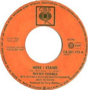 Here I Stand 45 record label
